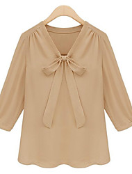 Women's V Neck ¾ Sleeve Blouse