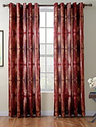 TWOPAGES® Diana Collection Art Abstract Thick Knit 850GSM Velvet Hand Feel Curtain Panel Drape One Panel
