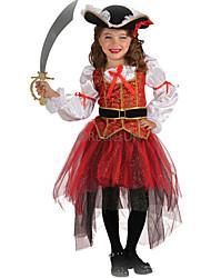 Halloween Kid Pirate Costumes Top / Skirt / Hat