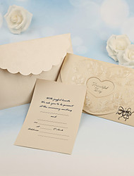 Non-personalized Flat Card Wedding Invitations Invitation Cards - 50 Piece/Set