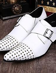 Sapatos Masculinos Oxfords Branco Couro Casamento / Festas & Noite