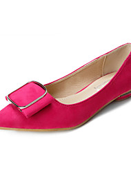 Women's Shoes Suede Flat Heel Ballerina / Closed Toe Flats Outdoor /  Career / Breathable Leather Tines Lazy Shoes