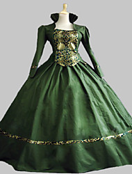 One-Piece/Dress Ball Gown Gothic Lolita Steampunk® / Victorian Cosplay Lolita Dress Green Vintage Long Sleeve Long Length Dress For Women