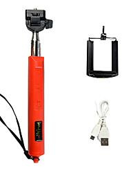 extensible zoom bluetooth inalámbrico palo selfie monopie con disparador remoto tamaño plegable: 30x12.5x4cm