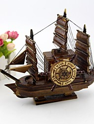 Vintage Music Sailboat Model Sailboat Creative, Mediterranean Music Box