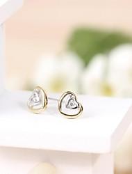 Tous jewelry silver earings 925 women korean tv drama fine jewelry rose gold  3a cz stud earrings boucle d'oreille femme
