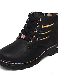 Boys' Shoes Casual Leather Boots Black / Blue / Brown