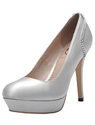 Women's Wedding Shoes Heels/Platform/Closed Toe Heels Wedding/Party & Evening/Dress Black/Blue/Green/White/Champagne