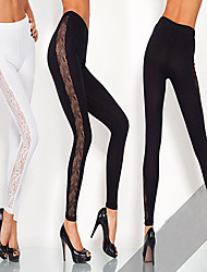 DONNE - Pantaloni - Informale A vita alta - magro Cotone