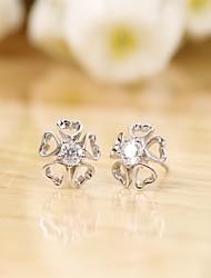 Tous jewelry silver earings 925 women korean tv drama fine jewelry rose gold love heart 3a cz stud earrings pendientes