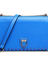 D.jiani Woman'S Pu Leather Love Lock Rivet Package