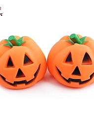 FUN OF PETS®Halloween Pumpkin Jack-o'-lantern Orange Rubber Squeak Pet Dog Toys 1PC