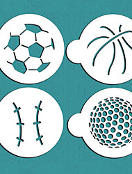 Large Sports Ball Cookie Stencils,Stencil for Cake Decorating,ST-697