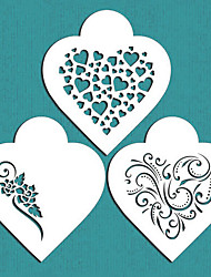 Valentine's Gift Contemporary Hearts Cookie Stencil for Cake Decorating,ST-671