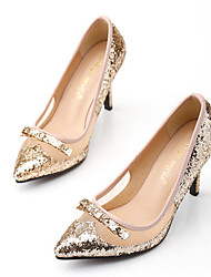 Women's Shoes Synthetic Stiletto Heel Pointed Toe Heels Dress Gold