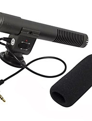Gun Microphone External Stereo Recording Microphone for SLR cameras with MIC 3.5mm Audio Interface
