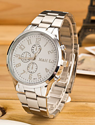 Мужской Наручные часы Кварцевый сплав Группа Серебристый металл бренд-
