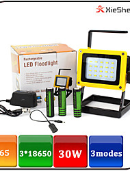 Torch Light LED Flashlights/Torch / Lanterns & Tent Lights LED 1600 LUMENS Lumens 3 Mode LED 18650 Rechargeable / Emergency