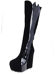 Women's Shoes Synthetic Flat Heel Comfort Boots Outdoor Black/White