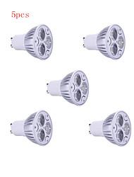 5kpl 9w GU10 900lm lämmin / viileä valo lamppu johti kohdevalo (85-265v)