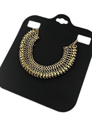 Personality Retro Exaggerated Gold Trend Necklace*1pc