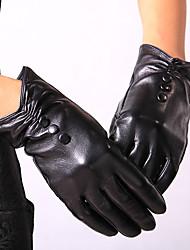 AINASEN Woman Fashion Sheepskin Leather Gloves Winter Keep Warm Windproof Full-finger Gloves Gift Goat Skin Leather