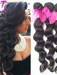"""3 PC / porción 8 """"-26"""" virgen color del pelo 1b suelta la onda del pelo humano sin procesar brasileño teje la venta caliente."""