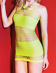 Women's Neon Knit Fishnet Chemise