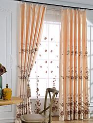 yimi® un pannel de style européen rideau de luxe (œillet du haut)
