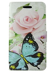 For Nokia Case Wallet / Card Holder / with Stand Case Full Body Case Butterfly Hard PU Leather Nokia Nokia Lumia 640