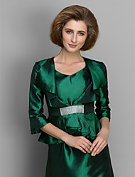 Women's Wrap Coats/Jackets Taffeta Wedding / Party/Evening Ruffles