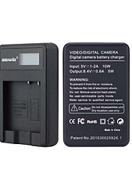 Camera Battery Charger with Screen for Panasonic BCK7 Black