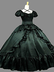 One-Piece Gothic Lolita Steampunk®/Victorian Cosplay Lolita Dress Blue Vintage Short Sleeve Dress For Women Civil War Southern Belle Prom Ball Gown