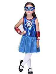 Costumes - Superhéros - Enfant - Halloween / Noël / Carnaval / Le Jour des enfants / Nouvel an - Robe / Manche / Masque