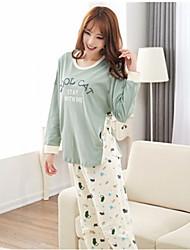 Damen Pyjama  -  Baumwolle Medium