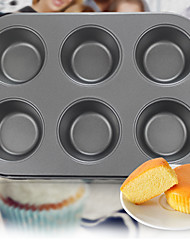 6 Cupcake Muffin Bread Loaf Cake Making Mould Filing Bakeware Pan Flat Tin