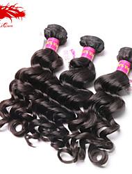 Ali Queen hair products 6A Malaysian Virgin Hair  wave Natural Black Hair 3pcs/Lot