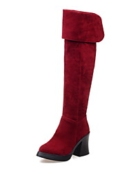 Women's Shoes Chunky  Heel Round Toe Over-The-Knee Boots More Colors available