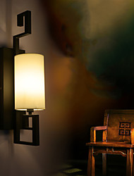 Modern American Style Antique Lamp IKEA Living Room Bedroom Hotel Rooms White Cloth Wall Lamp
