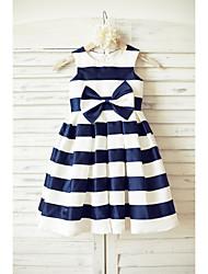 A-line Knee-length Flower Girl Dress - Taffeta Sleeveless Scoop with