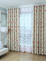 Two Panels European Contracted Fashion Animals Cartoon Jacquard Roller Blind Curtains Drapes
