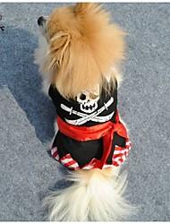Katzen / Hunde T-shirt / Hosen Schwarz Hundekleidung Frühling/Herbst Totenkopf Motiv Hochzeit / Cosplay