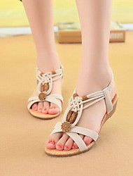 Fashion Women's Shoes Leatherette Low Heel Mary Jane Sandals Office & Career/Dress/Casual
