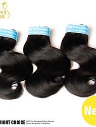 3Pcs Lot Peruvian Virgin Hair Body Wave Wavy Natural Black Remy Human Hair Extensions Cheap Peruvian Hair Weave Bundles