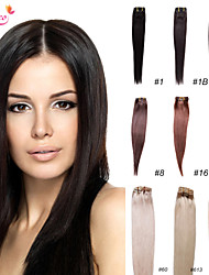 Smilco Hair Clip In Straight Hair Brazilian Virgin Clip In Hair Extensions Full Head Clip In Human Hair Extensions
