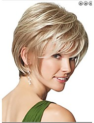 Natural Blonde Straight Short Wig For Woman Fashion Wigs