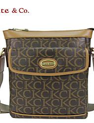 Kate & Co.® Femme PVC Sac à Bandoulière Gris - TS-00079