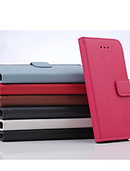 For iPhone 6 Case / iPhone 6 Plus Case Wallet / Card Holder / with Stand / Flip Case Full Body Case Solid Color Hard PU LeatheriPhone 7