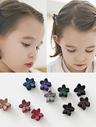 Mini Little Flower Small Clip Headdress Han Edition Frosted Children Bang Small Hair Claw Dark Mixed 10 / Group