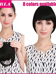 Clip in Synthetic Bang with Temples 7 Colors Available